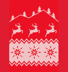 nordic seamless pattern christmas background vector image