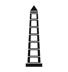 Obelisco of Buenos Aires icon simple style vector