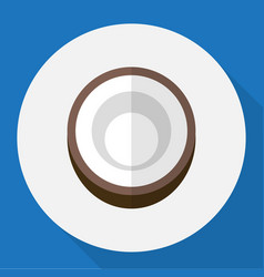of dessert symbol on coconut vector image
