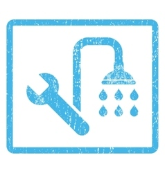 Plumbing Icon Rubber Stamp vector