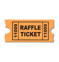 Raffle ticket vector