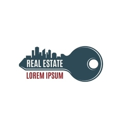 Real estate simple key logo template vector