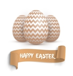 Realistic Easter Egg Set Happy Easter vector image