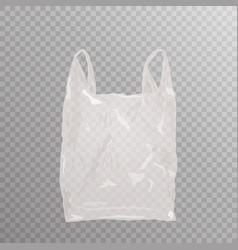 Realistic plastic bag on transparent bakground vector