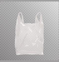 realistic plastic bag on transparent bakground vector image