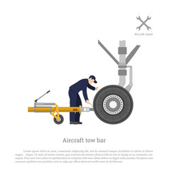 repair and maintenance of airplane vector image