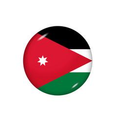 Round flag jordan button icon glossy badge vector