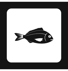 Saltwater fish icon simple style vector image