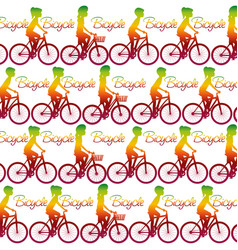 Seamless bicycles pattern vector