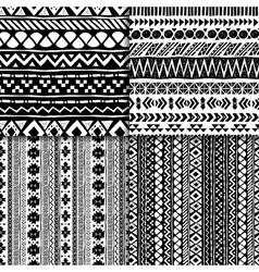 Seamless ethnic pattern set vector