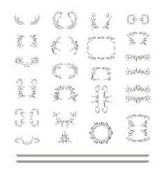 Set of silver element vector