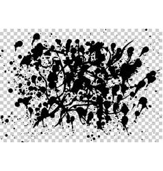 set splash on white background vector image