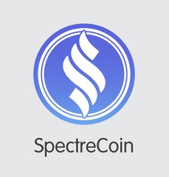 Spectrecoin cryptocurrency - web icon vector