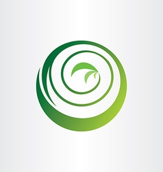 Spiral bio circle plant ecology green icon logo vector