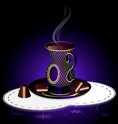 tea and chocolate vector image