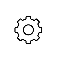Thin line settings gear icon vector