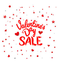 valentines day sale inscription abstract vector image