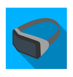 Virtual reality headset icon in flat style vector