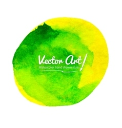 Watercolor yellow-green circle vector