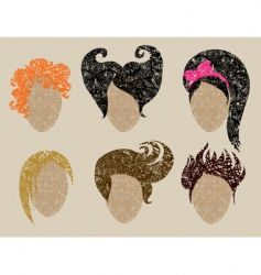 womans hair vector image vector image
