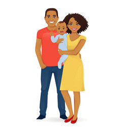 Young family portrait vector