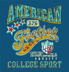 american football college sport crack vector image vector image