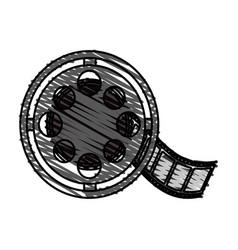 Color crayon stripe image cartoon film roll reel vector