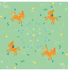 Horse pattern vector
