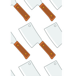 meat cleaver pattern vector image vector image