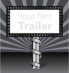 billboard with film strip illustration vector image vector image