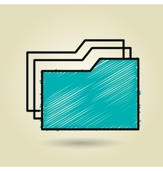 documents icon design vector image vector image