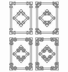 geometrical borders vector image vector image