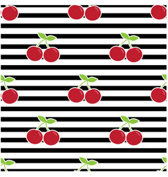 pattern with cherries vector image