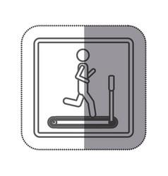 person jogging on a machine icon vector image vector image