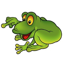 Sitting Green Frog vector image vector image