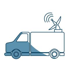 Truck antenna communication broadcast signal vector