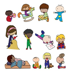 babys 1 vector image