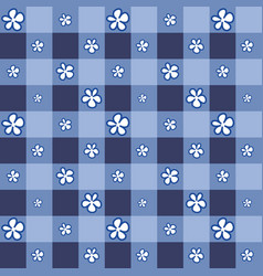 cute flower with indigo square background vector image vector image