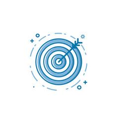 flat bold line target goal vector image