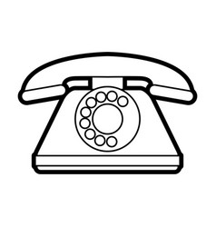 isolated retro phone design vector image vector image
