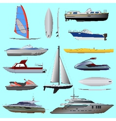 Set of boat vector
