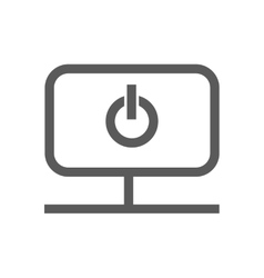 start icon inside monitor vector image vector image