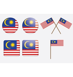 badges with flag of Malaysia vector image