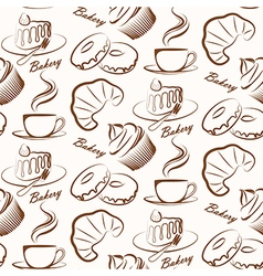 bakery seamless vector image