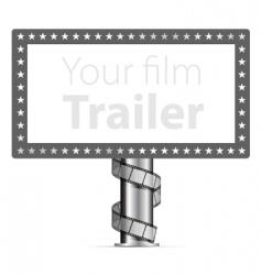 billboards with wraps film strip vector image vector image