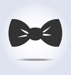 bow tie icon gray colors vector image