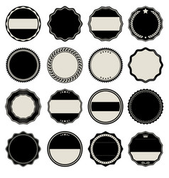 collection of blank labels vector image vector image
