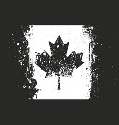 flag of canada grungy worn scratched style vector image