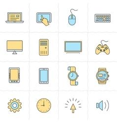 Gadgets icon set vector image vector image