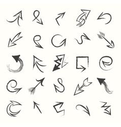 Hand drawn sketch arrows vector image vector image